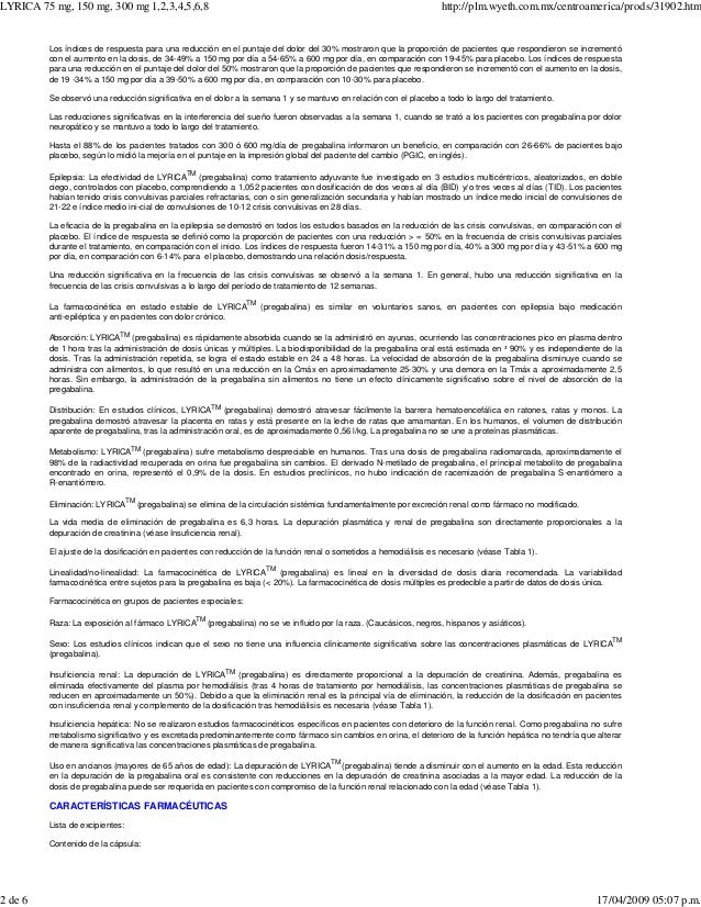 farmacocinetica lineal pregabalina plm