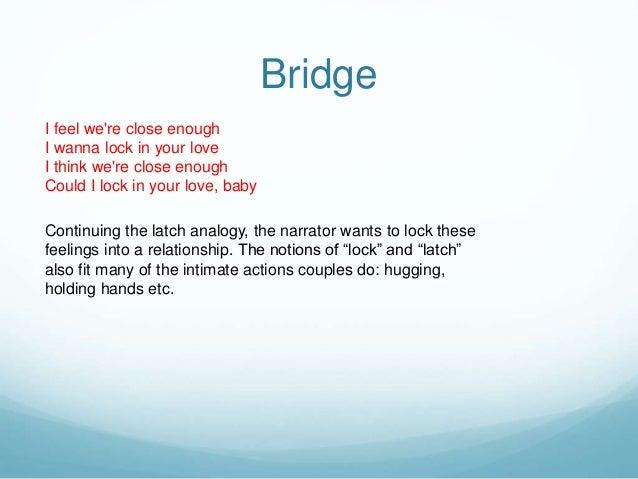 Lyric analysis - Disclosure FT Sam Smith - Latch Slide 3