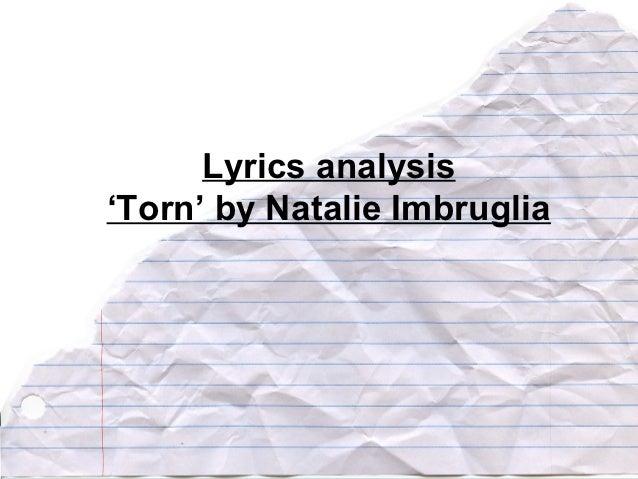 Lyric analysis torn