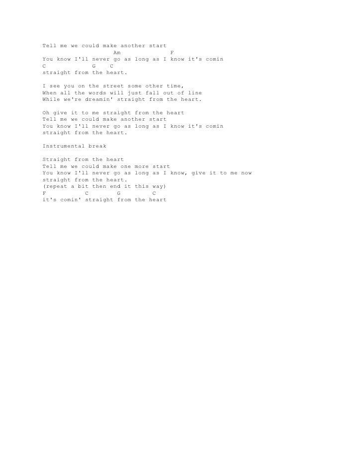 Lyric And Chord Guitar Bryan Adams