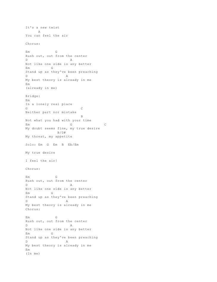 Lyric And Chord Guitar Jimmy Eat World