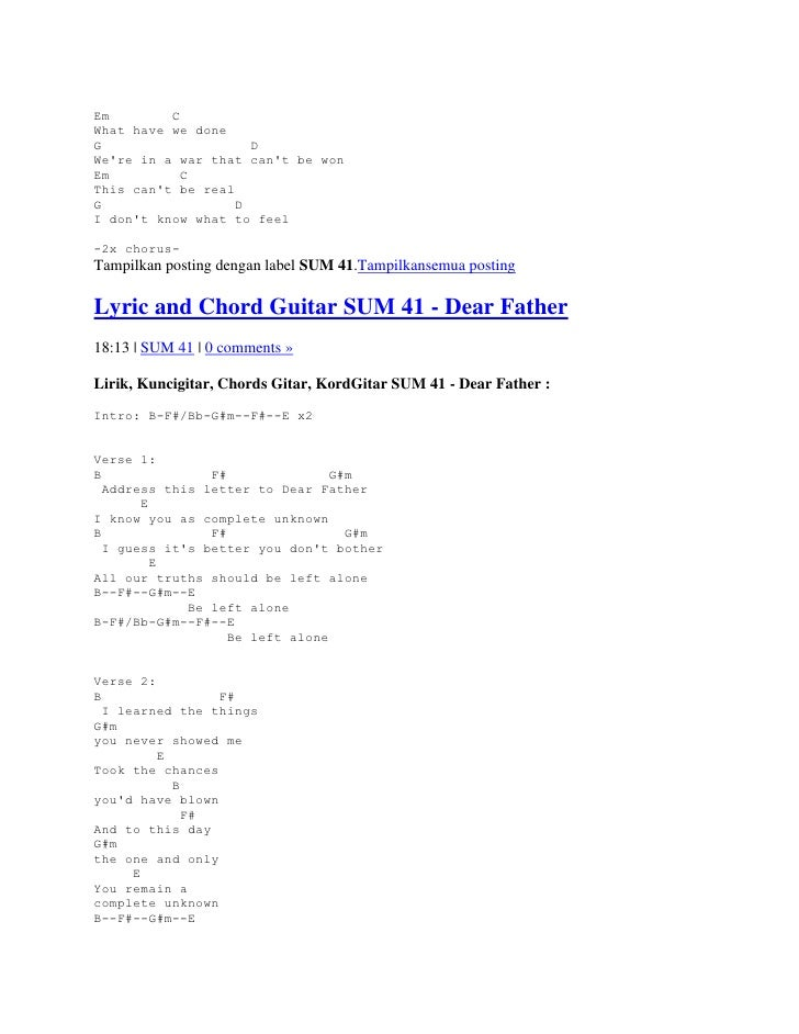 Wild World Cat Stevens Guitar Chords Image Collections Basic