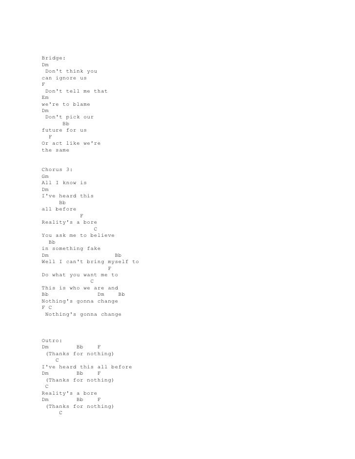 Best Dont Tell Me What To Do Lyrics And Chords Image Collection