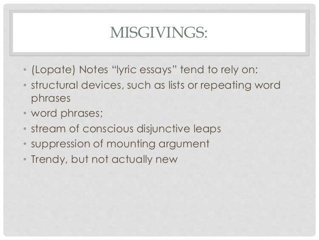lyric essays