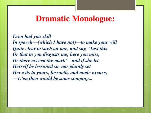 dramatic monologue topics