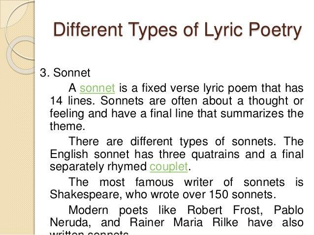 A Lyric Poems 3