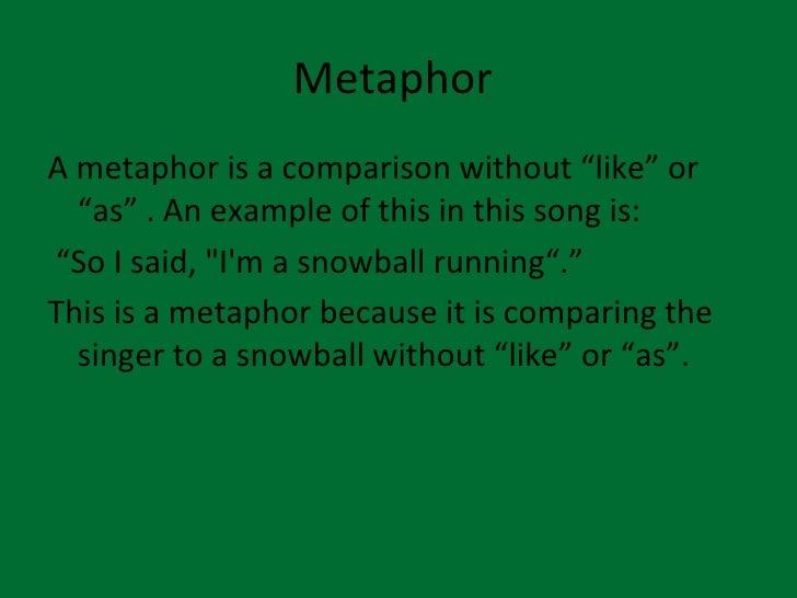 Love metaphor in english songs Essay Example