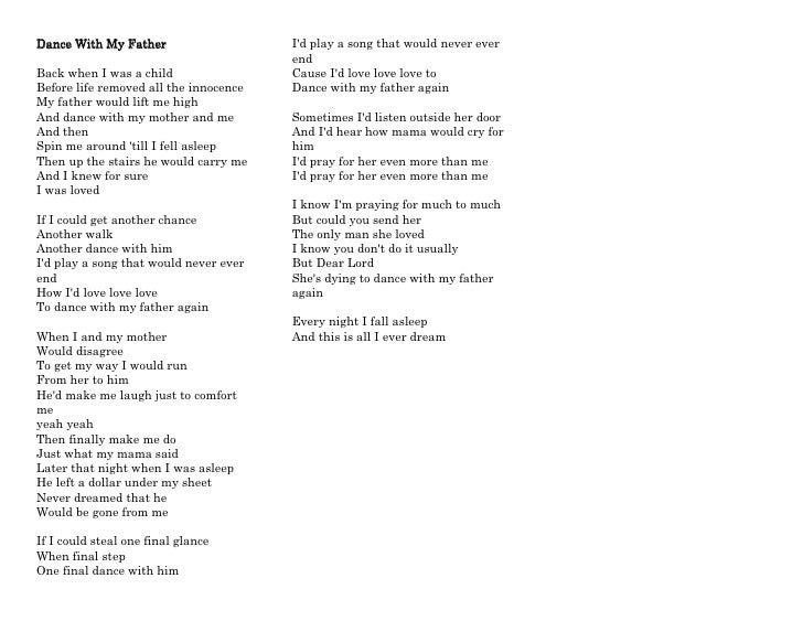 Céline Dion - Dance With My Father Lyrics | Musixmatch