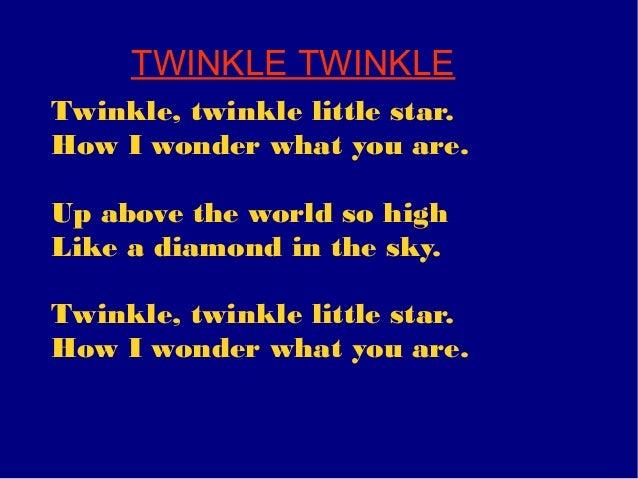 Guitar guitar tablature twinkle twinkle little star : Lyrics