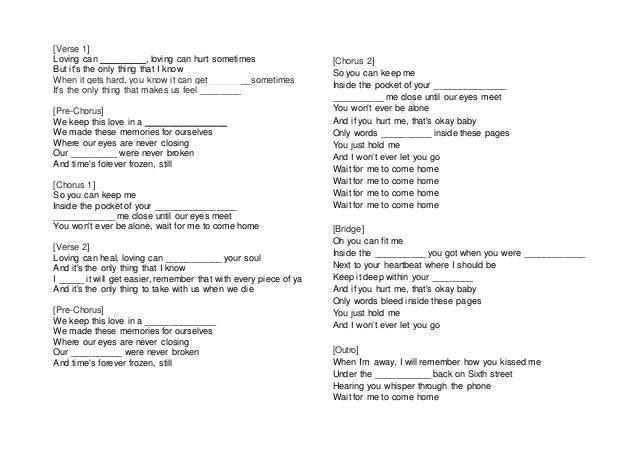 Waiting for you to come home lyrics