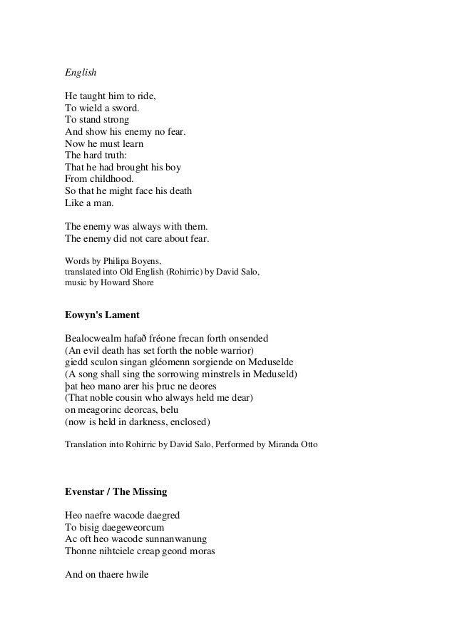 Lyric lyrics to something : Lord Of The Rings Lyrics Soundtrack