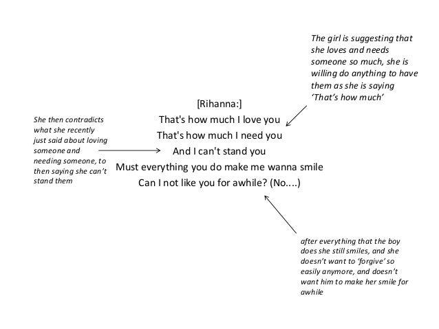 Lyrics Interpretation Hate That I Love You By Rihanna