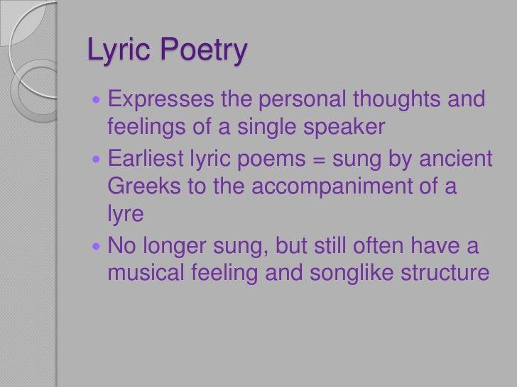 Lyrics Poetry and Wordsworth
