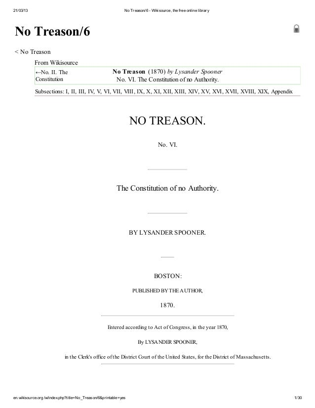 21/03/13 No Treason/6 - Wikisource, the free online library en.wikisource.org/w/index.php?title=No_Treason/6&printable=yes...