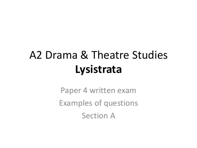 A2 Level Drama Coursework?