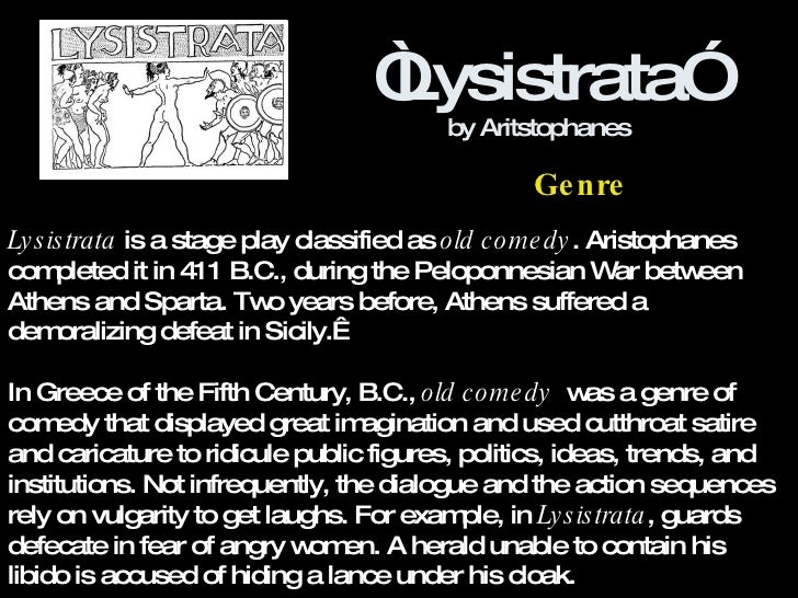 Gender and Power in Lysistrata by Aristophanes