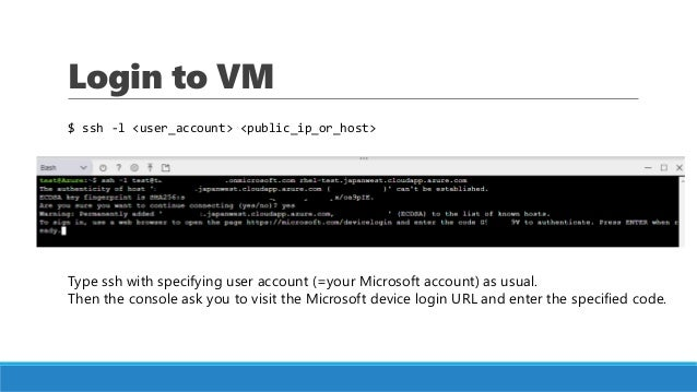 Log in to a Linux VM in Azure using AAD authentication
