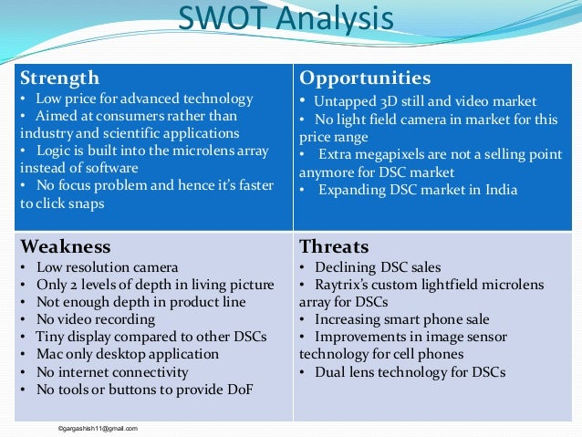swot analysis of digital camera industry $2,60000 | in this report, we analyze the cmos high-speed camera industry from two aspects one part is about its production and the other part is about its consumption.