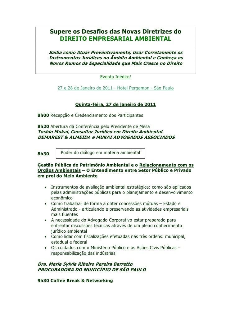 Supere os Desafios das Novas Diretrizes do          DIREITO EMPRESARIAL AMBIENTAL       Saiba como Atuar Preventivamente, ...