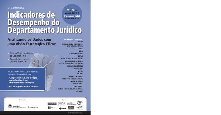 7ª Conferência                                                  07 e 08 deIndicadores de                               Jun...