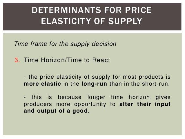 factors determining the price elasticity of demand
