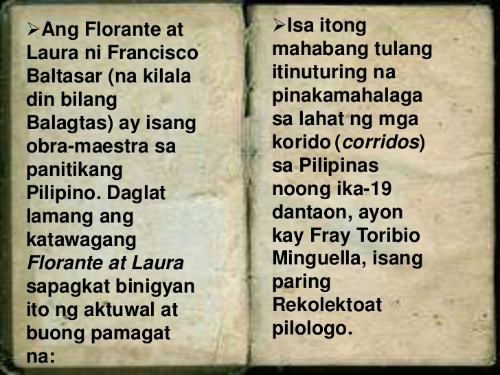 dating pamagat ng florante at laura Start studying florante at laura learn vocabulary, terms, and more with flashcards, games, and other study tools dating pamagat ng florante at laura 24.