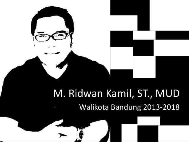 M. Ridwan Kamil, ST., MUD Walikota Bandung 2013-2018