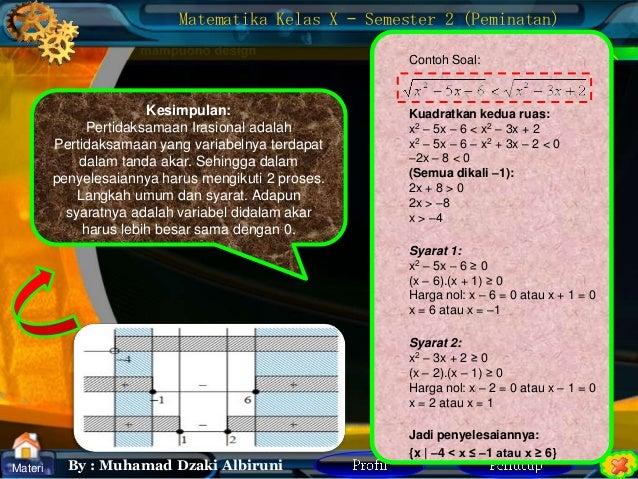 Matematika peminatan  pertidaksamaan