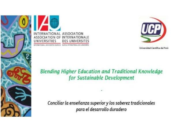 Conferencia Internacional de la IAU 2014 Universidad Científica del Perú (UCP), Iquitos, Perú 19-21 de marzo, 2014 INTEGRA...