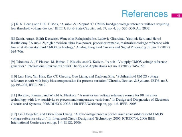references in thesis writing