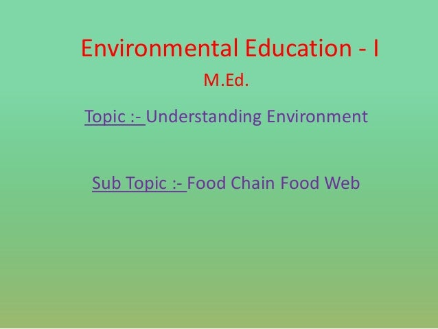 M Ed EVS Topic in marathi- Food Chain Food web