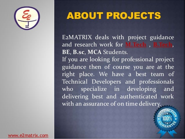 Mtech btech project list – Project List