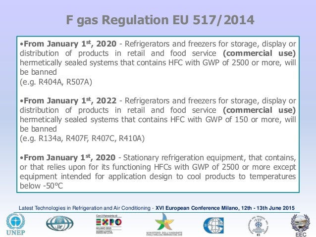 XVI CONVEGNO EUROPEO M  Zgliczynski - F-Gases EU Regulation