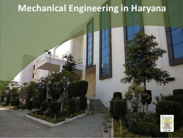 Mechanical Engineering in Haryana