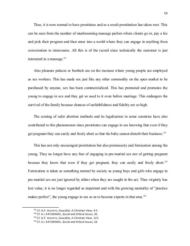 Church moral paper foundation biblical problem prostitution sex