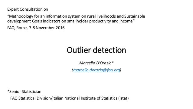 The RuLIS Approach To Outliers Marcello D Orazio FAO