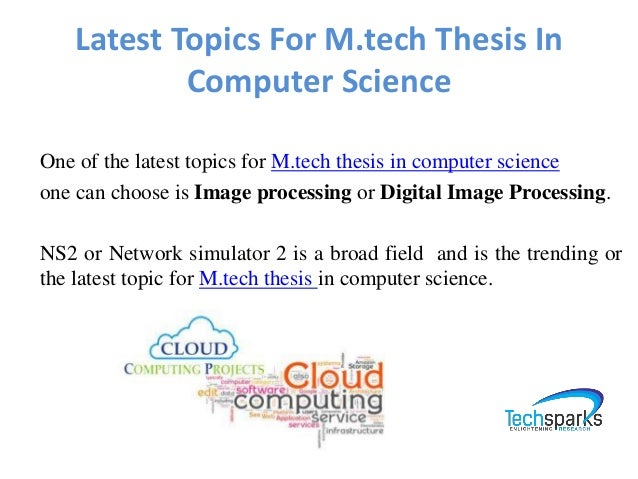 M tech Thesis Guidance