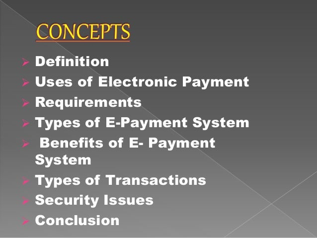 e payment system ppt