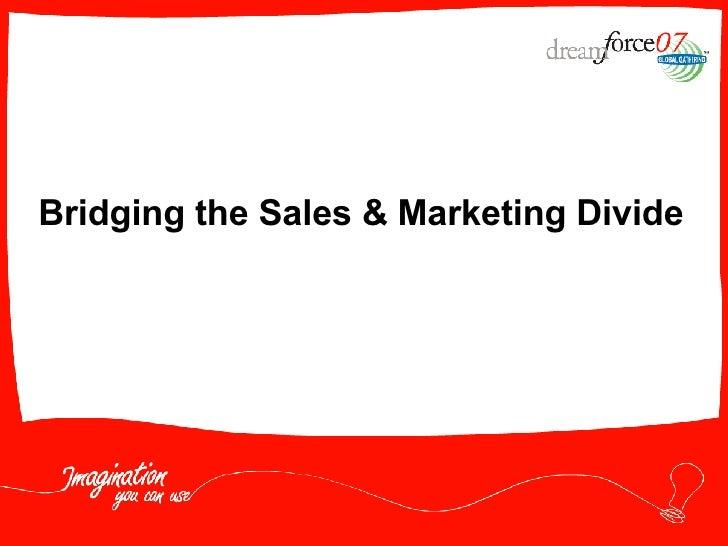 Bridging the Sales & Marketing Divide