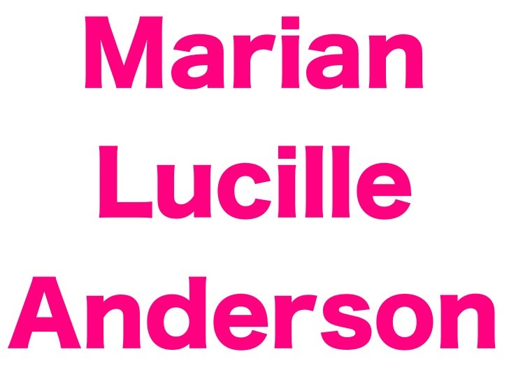Marian LucilleAnderson