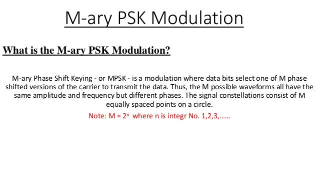 m ary psk modulation rh slideshare net m ary psk transmitter & receiver block diagram