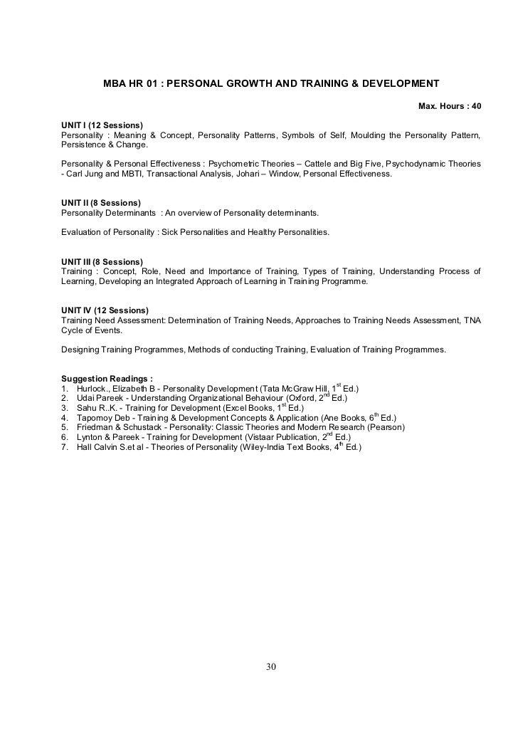 sikkim manipal university mba syllabus pdf