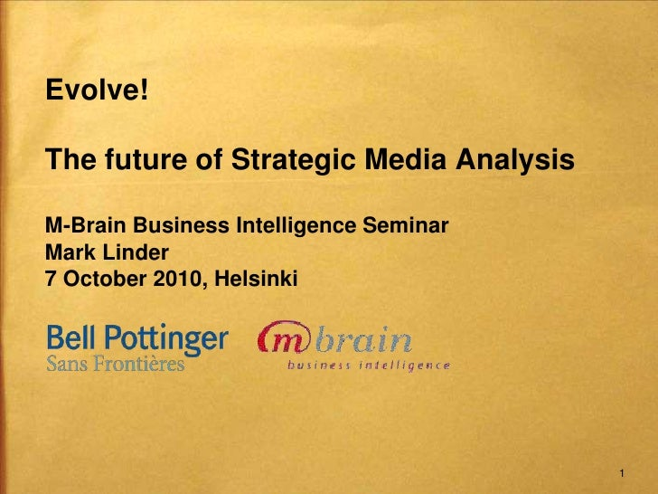 M-Brain business intelligence seminar Oct 7 2010 final