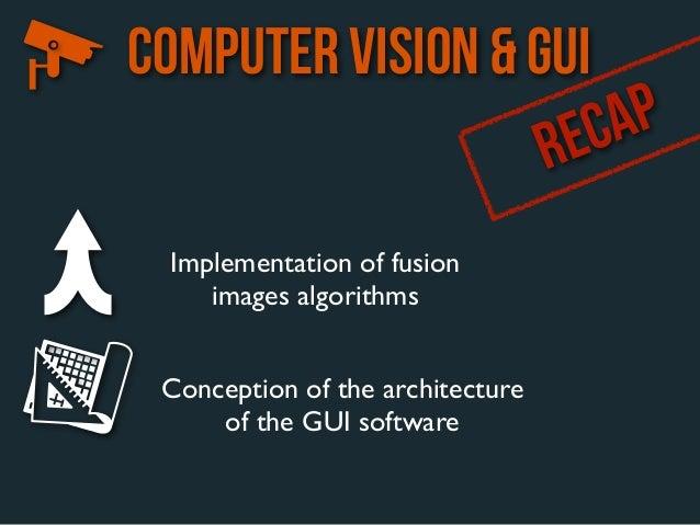 COMPUTER VISION & GUI                   R EC AP  Implementation of fusion     images algorithms Conception of the architec...
