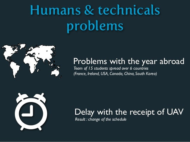 Humans & technicals    problems      Problems with the year abroad      Team of 15 students spread over 6 countries      (...