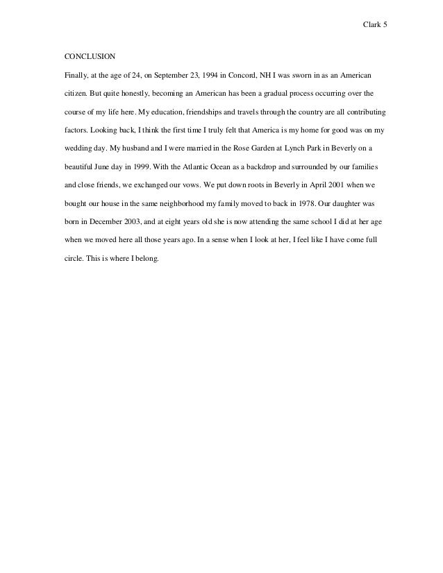 essay about moving to america