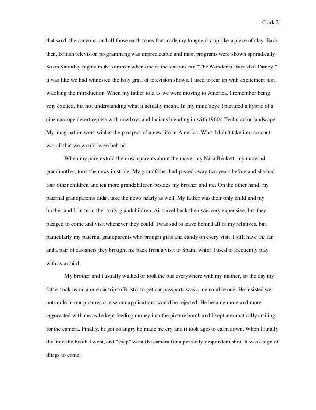 m clark college writing seminar paper second draft visual narra there was something about seeing all 2