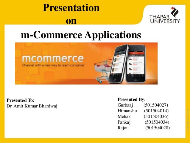 m commerce application Difference between m commerce and e commerce e commerce is available to only those places where we have net connectivity, but with m commerce we are free from all.