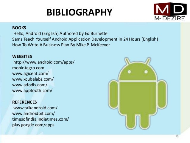 business plan android