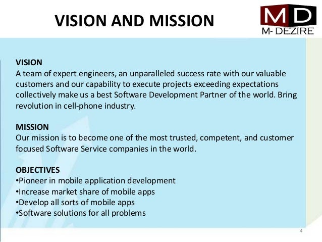 mission and vision statements business plan